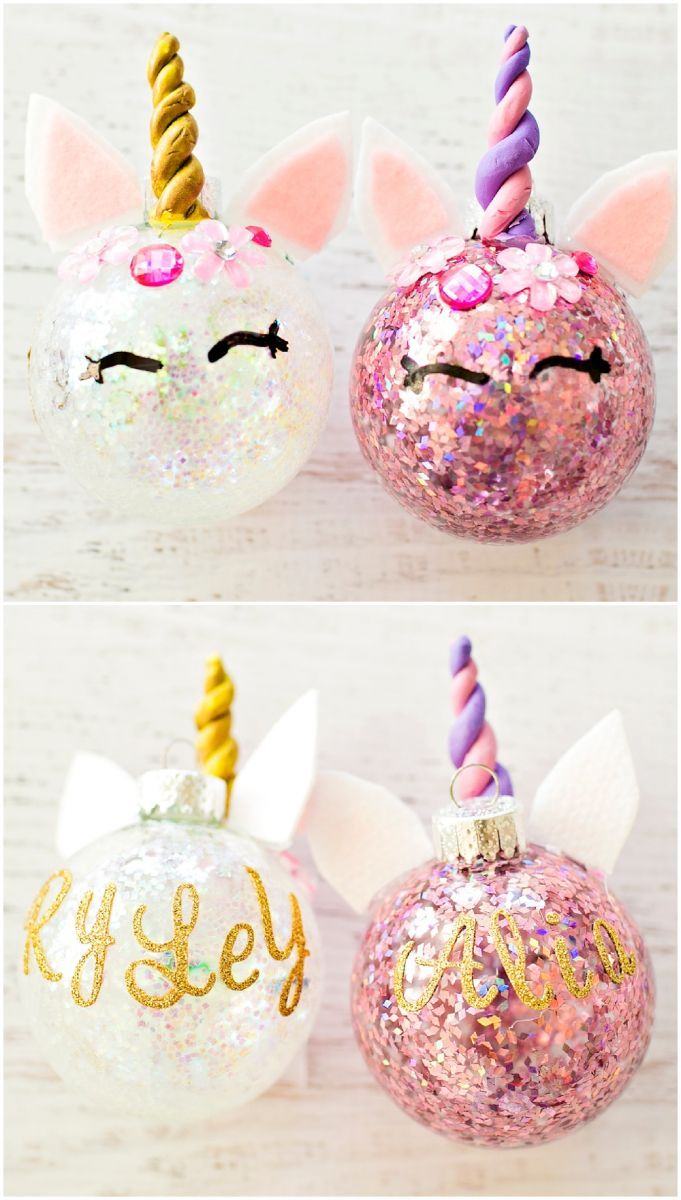 diy glitter unicorn ornaments jody pinterest ornaments christmas and christmas ornaments - Unicorn Christmas Decorations