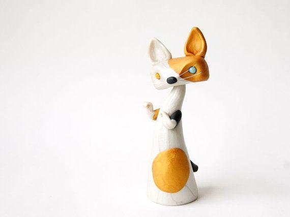 Maneko Neki Figurine chat Bobtail japonais par par BonjourPoupette