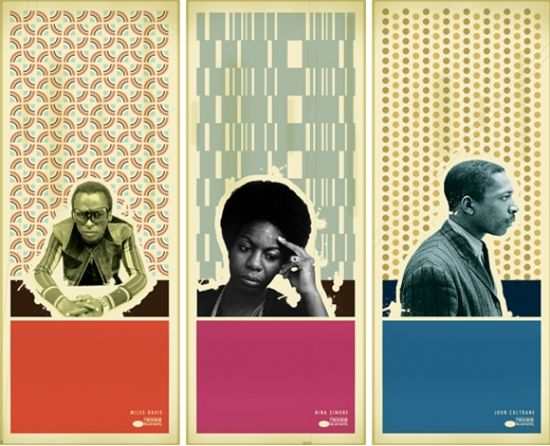 Blue Note inspired posters.