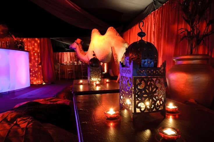 arabian nights party  | Candles work so well in marquees, they really help with the atmosphere