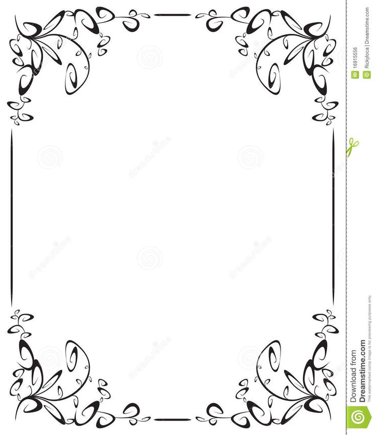 Frame With 4 Corner Decoration Royalty Free Stock Image ...