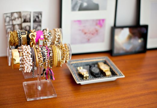 organized jewels / photo by Sarah Yates: Decor Ideas, Bracelet Holders, Bracelets, Closet, Accessories, Jewelry Organization, Room