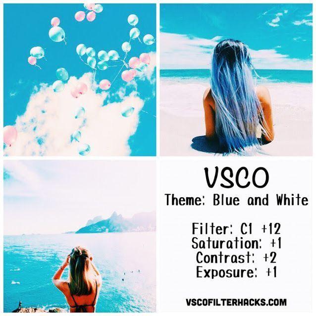VSCO Cam Filter Settings for Instagram Photos | Filter C1  Bright Blueish White Effect