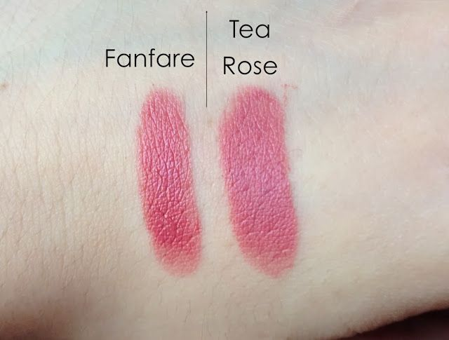 In Line of Beauty: MAC Fanfare Lipstick (Dupe is NYX Tea Rose)