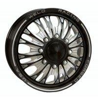 WELD WHEELS /  D54B Black Anodized Dually Front Wheel