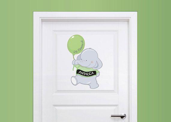 Adesivi porta cameretta Decorazioni adesive di labandadelriccio