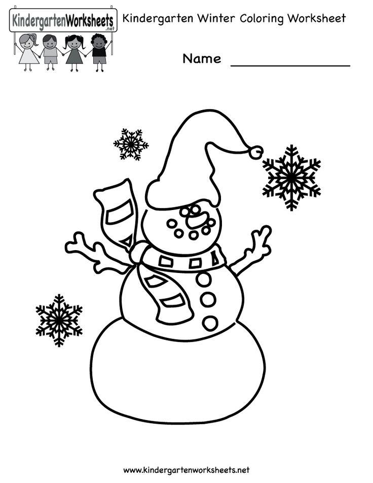 free printable holiday worksheets kindergarten winter coloring worksheet printable