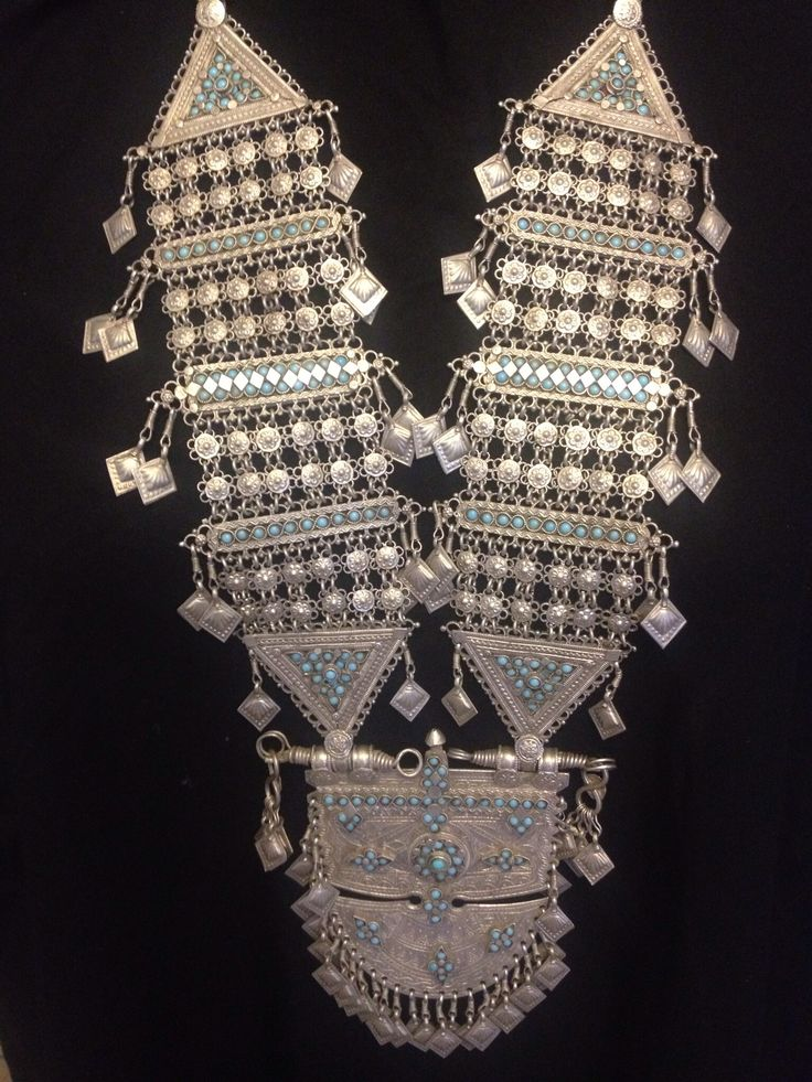 Turkmen Tibet antique Necklace From Afghanistan over 100 years old pice Absolutely one of kind And It is a collectable.