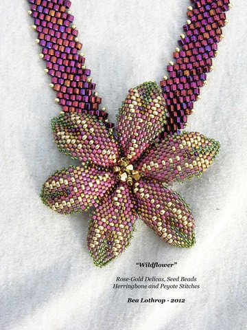 """Wildflower"" Diagonal Peyote with Delicas and Seed Beads"