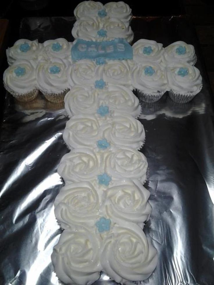 First Communion Cupcake Cake