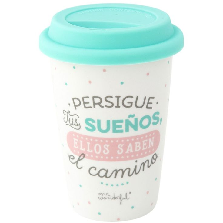 "Mug para llevar ""Persigue tus sueños"" 330 ml - Mr Wonderful"