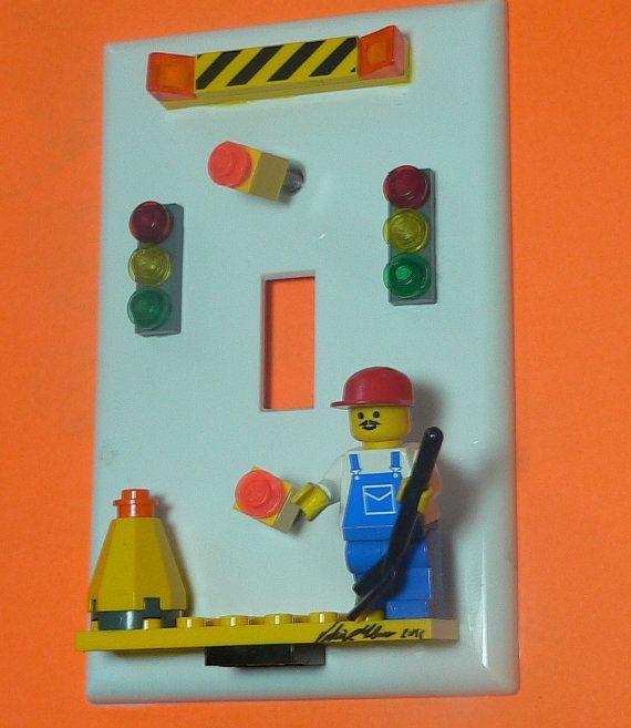 Cute details for boys' room. Lego theme. #boyroom #legos #boytheme