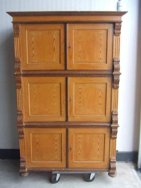 antique pine chest on chest brand schrank kofferkast
