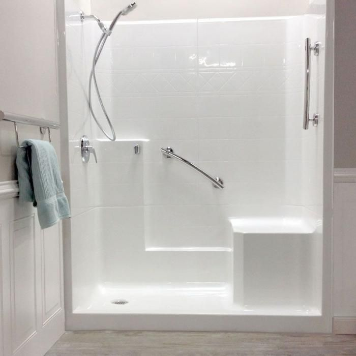 Freedom Easy Step Shower Right Seat 3 Piece 60 X 33 With