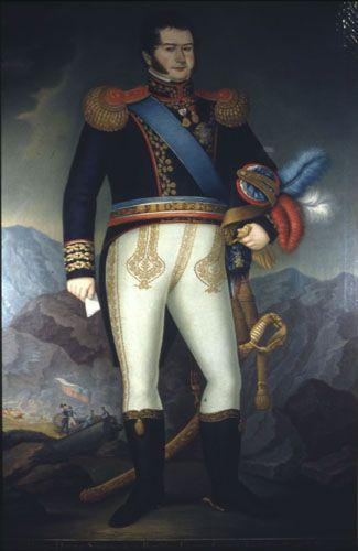 Retrato de Bernardo O´higgins de cuerpo entero, 1822. Óleo sobre tela. Museo Histórico nacional, Santiago de Chile.