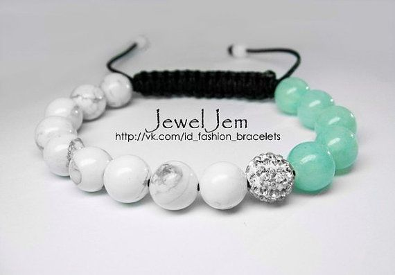 Shamballa Jewels Bracelet by JewelJemByOlga on Etsy