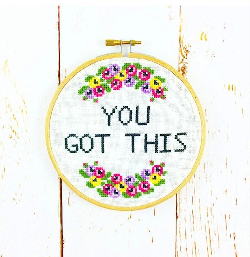 Cross Stitch Kit  You got this