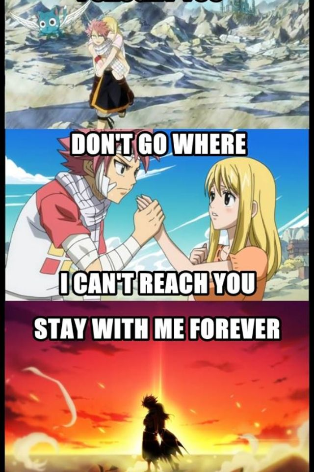 Fairy tail. Natsu and lucy is my otp of otps. Like its a level above otp.