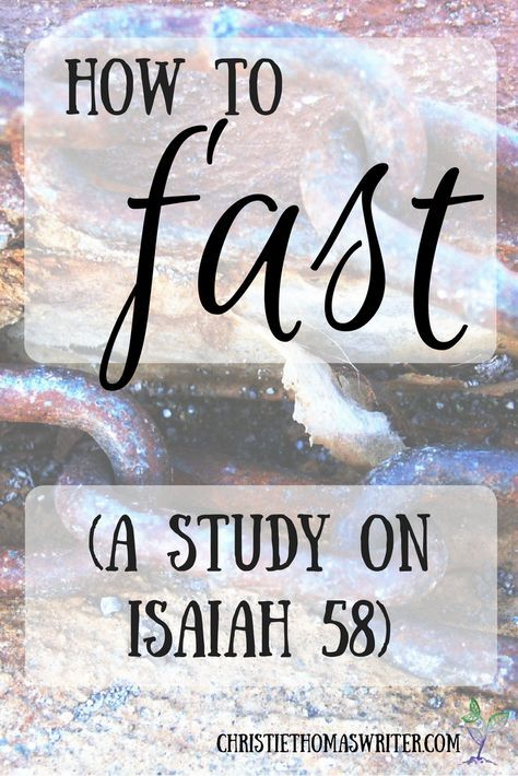 A study on Isaiah 58; the meaning of true fasting
