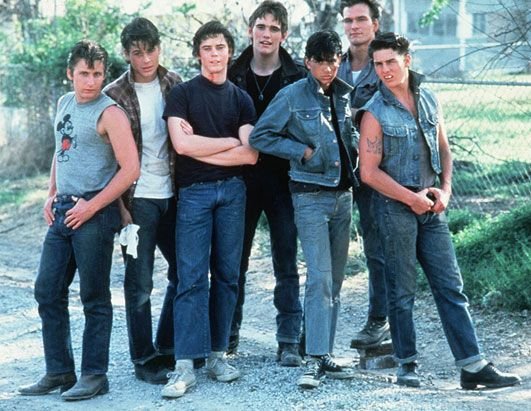 the outsiders. first film that ever made me cry. besides E.T.