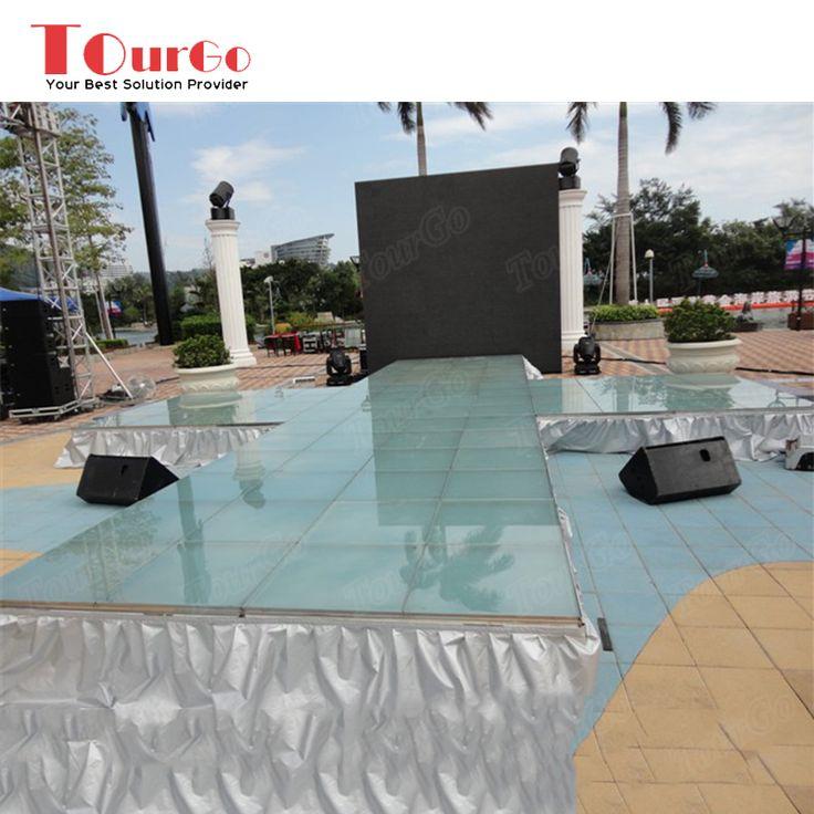 TourGo Outdoor Event Design Movable Portable Plexiglass Aluminium Stage Truss for Sale