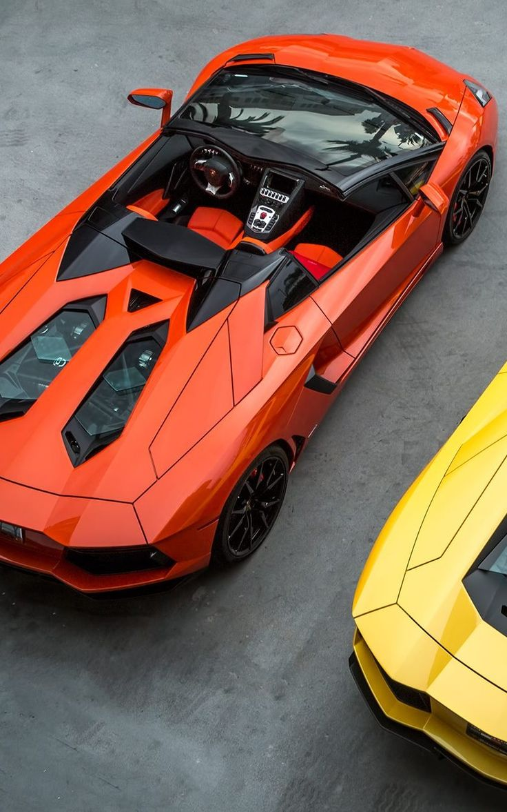 aventador roadster orange