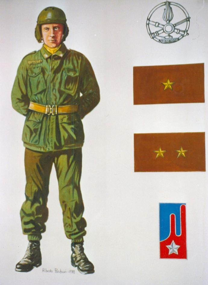 """Esercito Italiano - CARRISTA DEI """"LEOPARD"""" DEL REGGIMENTO """"CAVALLEGGERI DI LODI (15°)- 1989"""