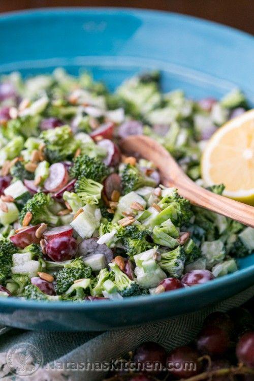 Broccoli Grape and Cucumber Salad   NatashasKitchen.com