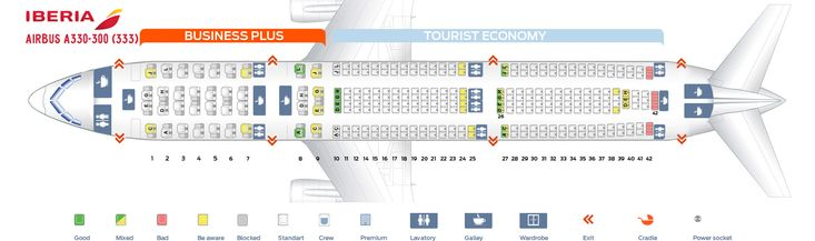 Seat Map And Seating Chart Airbus A330 300 Iberia Seating Plan Airbus A330 200 Seating Iberia