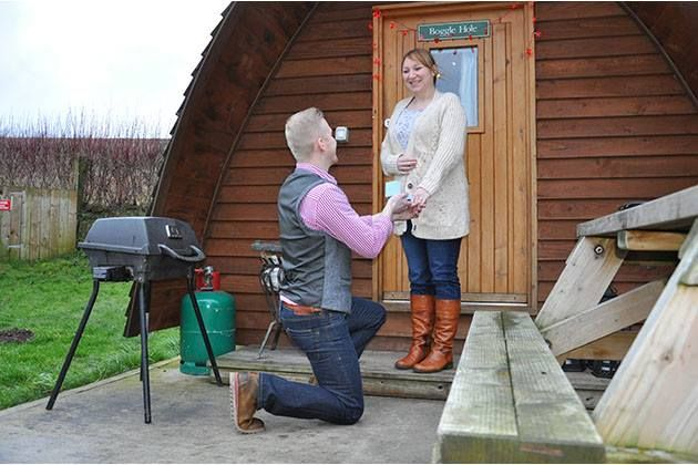 Getting engaged at a Wigwam site