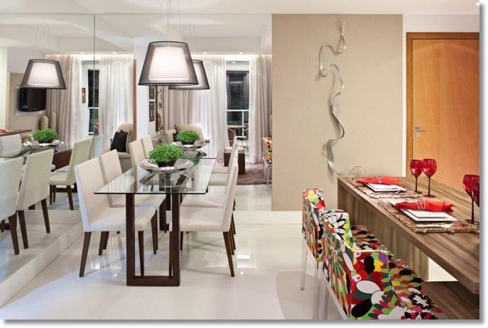 Sala De Jantar Viero Lara ~ Lar de Lara Apartamento decorado  SALAS DE JANTAR  DINING ROOM