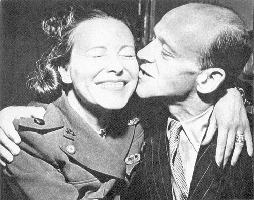 Fred and Adele Astaire at the opening of London's Stage Door Canteen, August 31, 1944: Adele Astaire, Fred Astaire, Photo