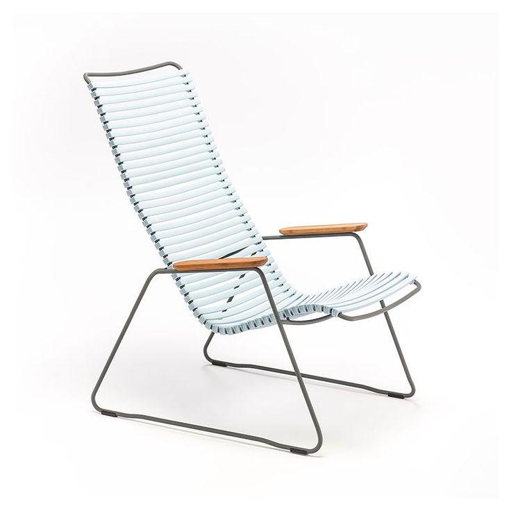 Chaise longue coloris bleu fumée CLICK Houe