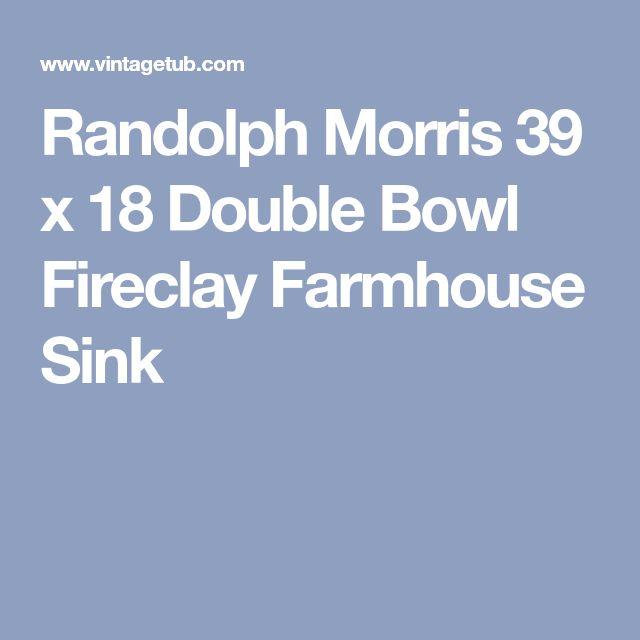 Randolph Morris 39 x 18 Double Bowl Fireclay Farmhouse Sink