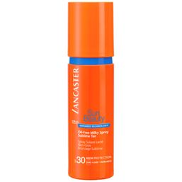 Sun Beauty Обезжиренное молочко-спрей Великолепный загар SPF30 - 150 мл -  Три физических фильтра (рубиновая пудра, диоксид титана, перламутровый пигмент), которые отражают и нейтрализуют IR-лучи;  - Комплекс Активации Загара: сочетание комплексов Гелиотан (богат аминокислотами, микроэлементами и минералами), Биотаннинг (экстракт сладкого апельсина) и масла бурити;  - Увлажнение с помощью глицерина.