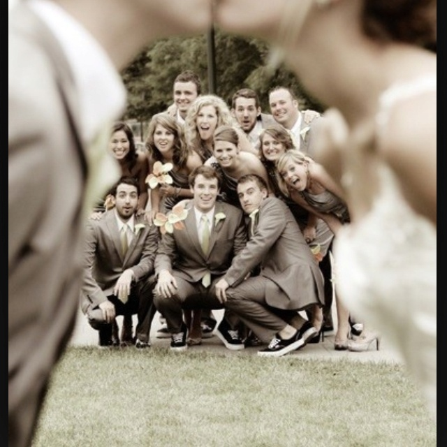 Hahaha love this one! Great way to focus on bridesmaids/groomsmen
