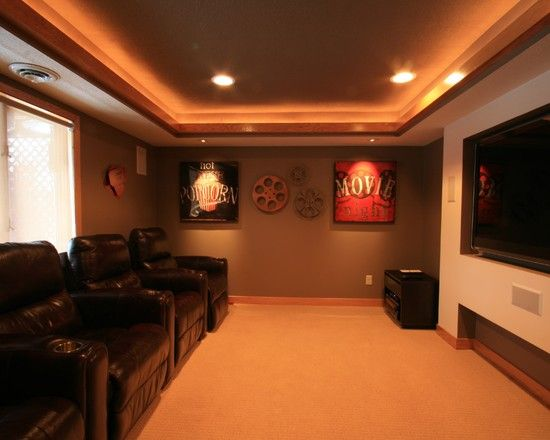 cheap attic remodel - Small man cave media room For the Home