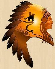 Apache Chief - Peel and Stick Wall Decal. Apache Chief Wall Decal native american theme wall decorations southwestern style decor