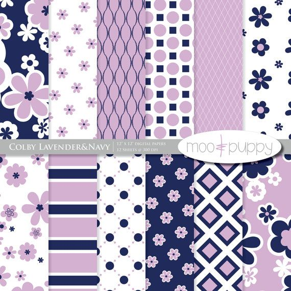 Colby Lavender Digital Scrapbook Paper by MooandPuppy
