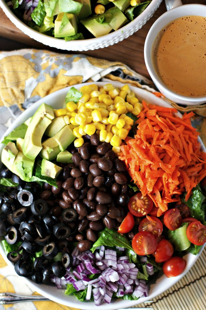 Chopped Salad with Spicy Chipotle Dressing ~vegan, gluten free~ A flavorful way to eat the rainbow!!!