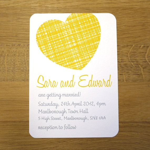 17 best ideas about yellow wedding invitations on pinterest, Wedding invitations
