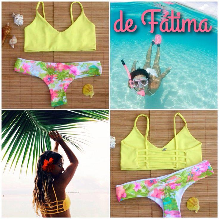 Bikini Tiritas Amarillo Hawaino