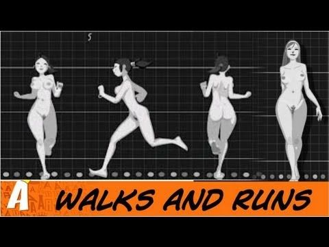 Animated walks and runs (from Felix Sputnik)