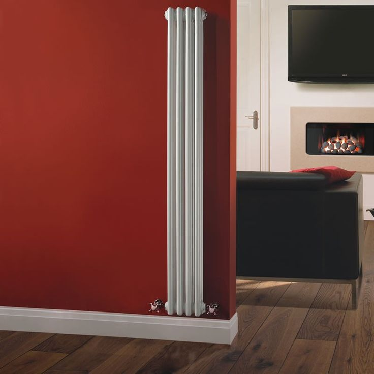 Milano Windsor - Traditional White 3 Column Radiator 1500mm x 203mm (Vertical) - Vertical Column Radiators - Traditional Column Radiators - ...