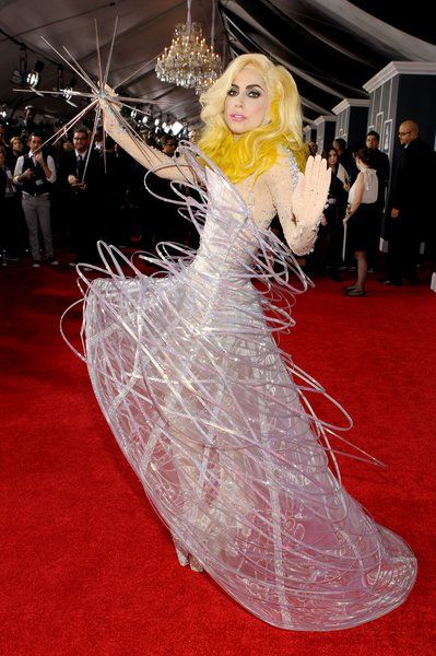 Lady Gaga gets interstellar at the 52nd Annual Grammy Awards at Staples Center in LA on January 31, 2010