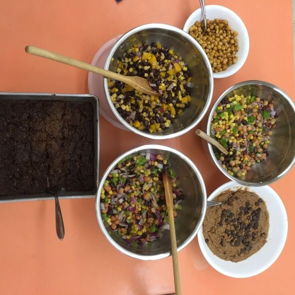 Wonderful plant based proteins lab for Family and Consumer Sciences and Home Economics classrooms. Recipes include Cowboy Caviar, Go (Iowa) Hawks Salsa, Buffalo Ranch Roasted Chickpeas, Chickpea Cookie Dough Dip, and Black Bean Brownies. Teenage students love all of the recipes- never any leftover brownies!