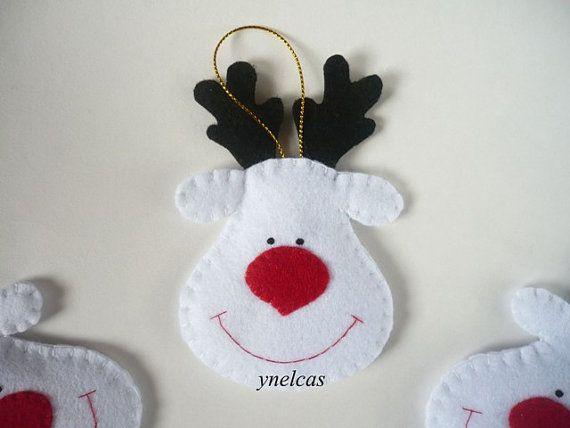 Kerst voelde ornamenten voelde kerst Rudolf de rode door ynelcas