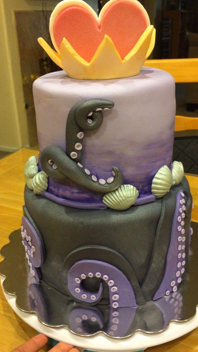 Ursula Cake The Little Mermaid Yum Decendants Cake