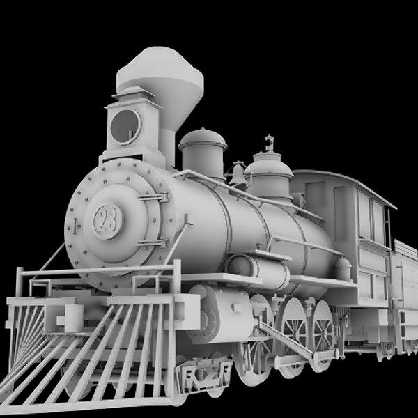 CGI - $30 - 4-6-0 steam locomotive 3d obj - 4-6-0 Steam Locomotive... by HallOfShadows