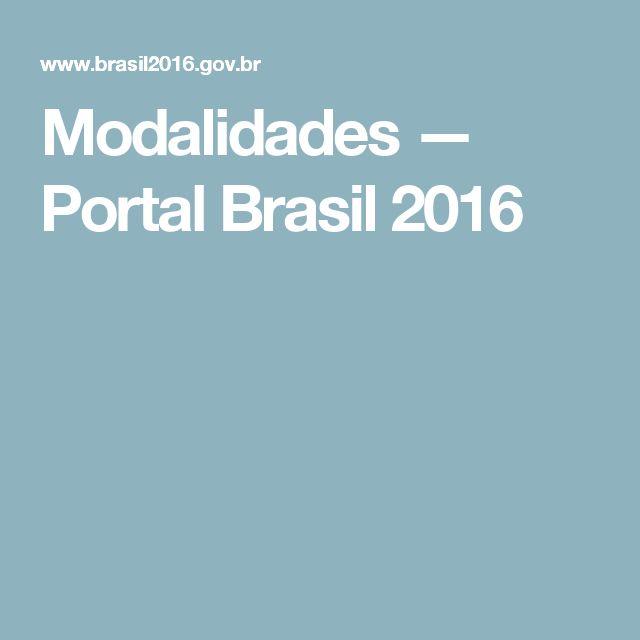 Modalidades — Portal Brasil 2016